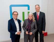 Ministerin Isabel Pfeiffer-Poensgen am Learning Lab