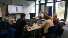 Foto der Seminargruppe beim Workshop Google Apps für die Lehre