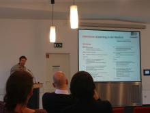 """Foto von der Eröffnung beim Symposium """"E-Learning in der Medizin"""""""