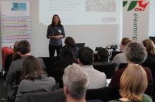 Anne Vonarx beim Vortrag Einstieg in die Mediendidaktik