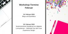 Werbegrafik für unser Workshop-Angebot im Februar