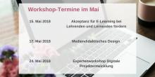 Grafik mit den Workshop-Terminen im Mai