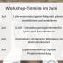 Grafik mit den Workshopterminen im Juni